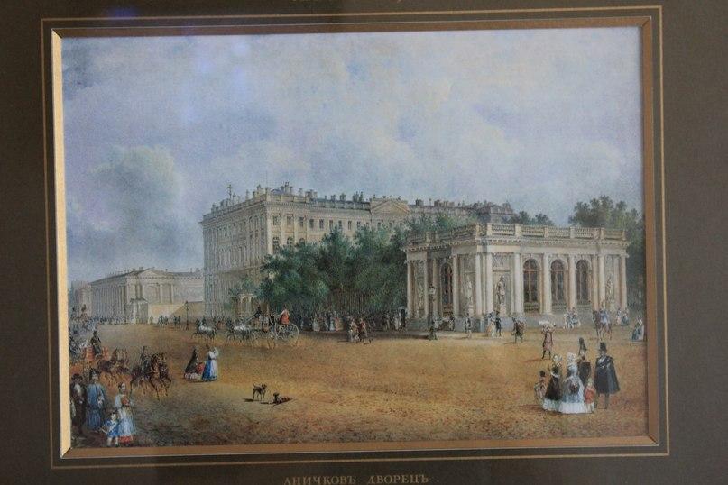 картина с аничковым дворцом